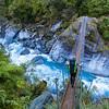 Hokitika River swingbridge