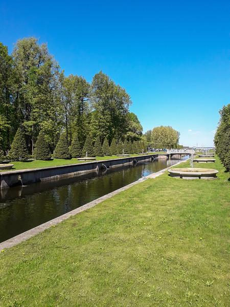 Peterhof seafront royal palace and Nizhniy Park