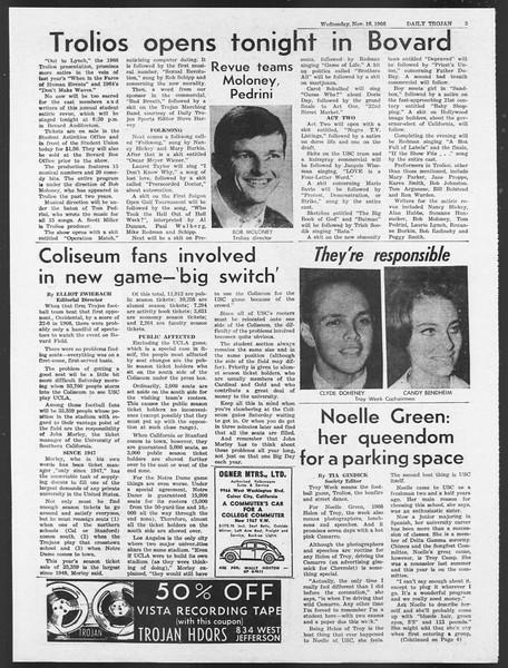 Daily Trojan, Vol. 58, No. 42, November 16, 1966