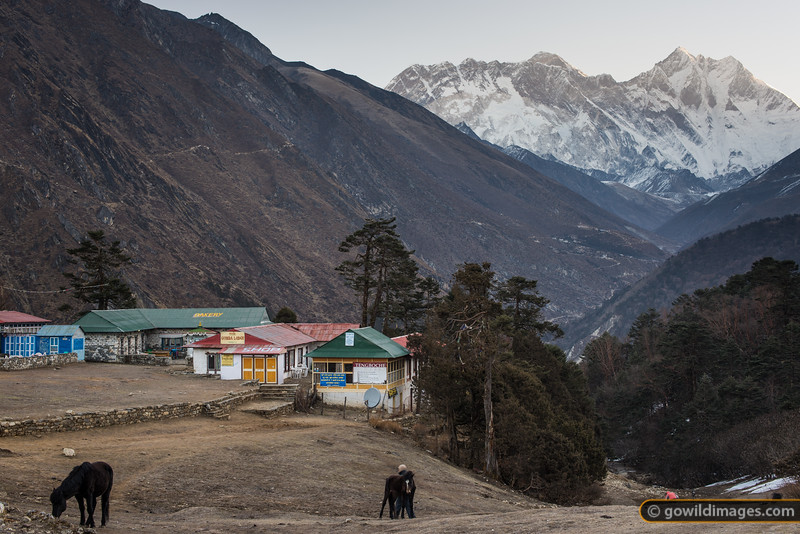 Mt Everest view from Tengboche
