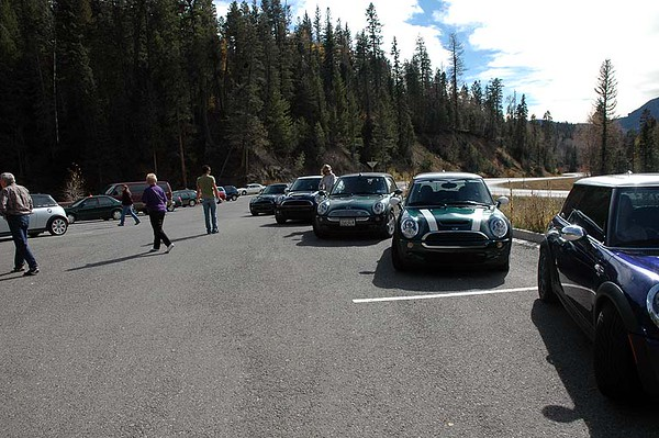 By now, we've hooked up with the NM MINIs in Pagosa Springs, had lunch, gassed up and decided to make a run for Wolf Creek Pass with the entire group. This is a rest area at the base of the west side of the pass.