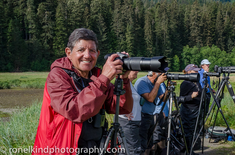 I'm really excited photographing my first wild Grizzly bears.  We are all safely at a distance, using our telephoto lenses.