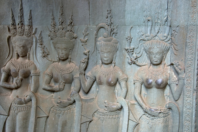 Bas Relief in Angkor Wat temple in Cambodia
