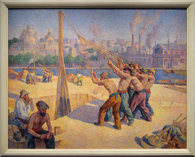 Maximilien-Jules-Constant Luce, Les batteurs de pieux, 1902