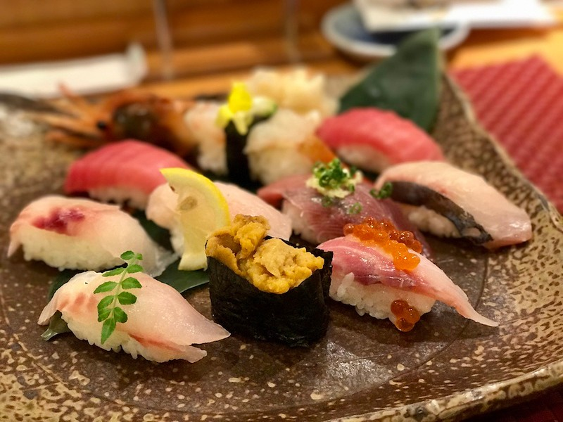 Uoriki's daily special sushi set.