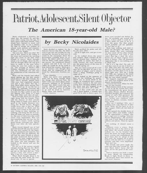 Southern California Magazine, Vol. 91, No. 61, April 19, 1982