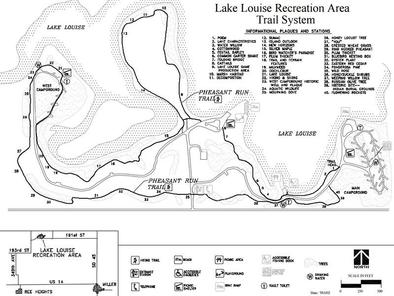 Lake Louise Recreation Area (Trail Map)