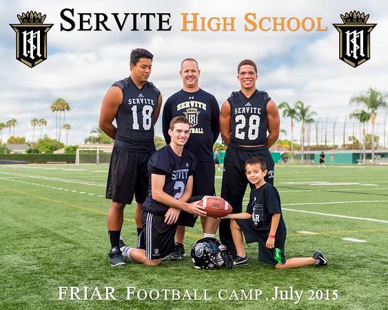 Friar Football Camp 7-11 & 7-12-15