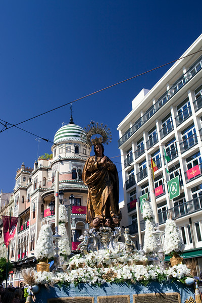 Inmaculada (Virgin Mary), Corpus Christi procession, Seville, Spain, 2009.