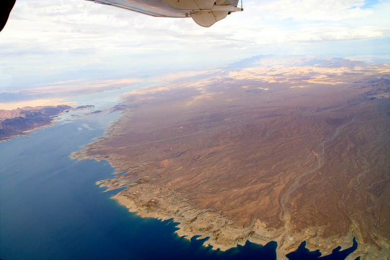 A view of Lake Mead from the plane.