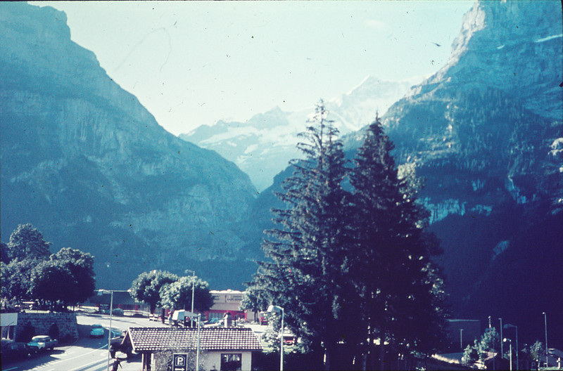 View when we came out--snow-capped Jungfrau (where we had tried to go for two days)