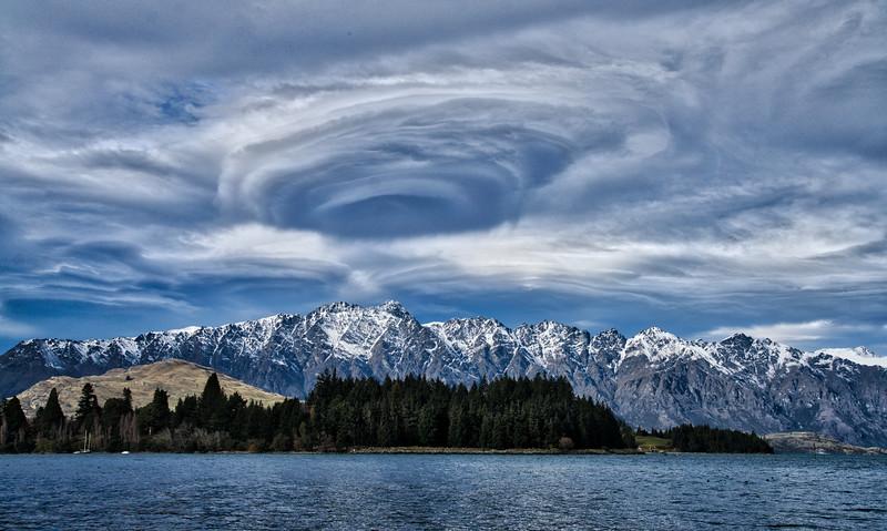 Swirling Vortex Over Lake Wakatipu