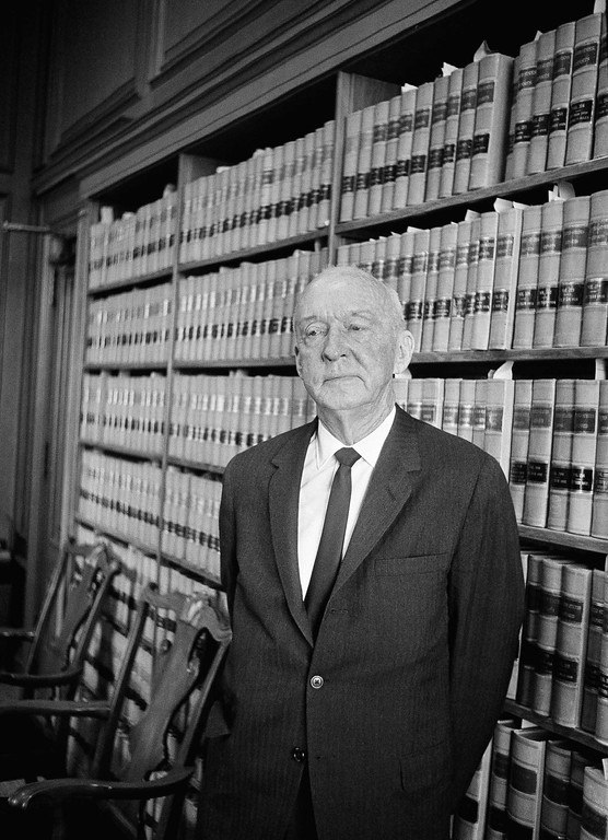 . Supreme Court Justice Hugo Black in his office at the Supreme Court in Washington, Feb. 23, 1966. Black was nominated for the Supreme Court in August of 1937. He will be 80 on Feb. 27. (AP Photo/Charles Gorry)
