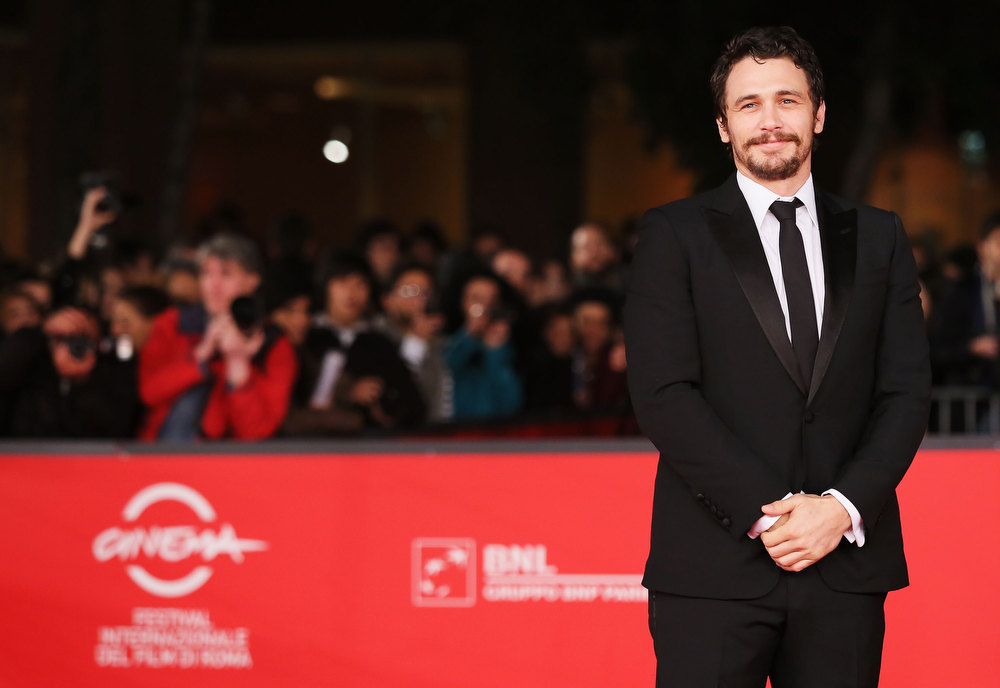 Description of . Actor James Franco attends the \'Dream & Tar\' Premiere during the 7th Rome Film Festival at Auditorium Parco Della Musica on November 16, 2012 in Rome, Italy.  (Photo by Ernesto Ruscio/Getty Images)