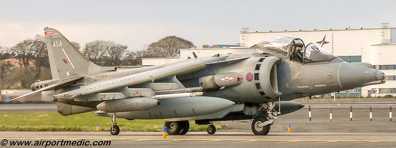 ZD433 BAe Harrier GR9A RAF @ Prestwick Airport (EGPK)