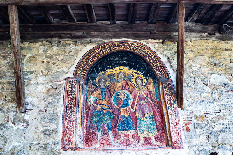 The church is completely covered in frescoes, painted between 1632 and 1649.  Over 3,500 figures are depicted in 200 scenes.