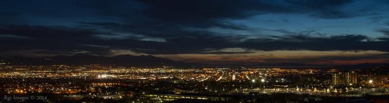 The lights of Salt Lake City.