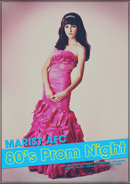 80's Prom Night (Promotional Poster - Pink Version)