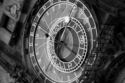 Astronomical clock. Old town square. Prague.