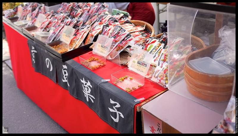These were proper wasabi peanuts. They have the kick!  Kinkaku-Ji, The Golden Pavilion 5th April 2013 Kyoto, Japan