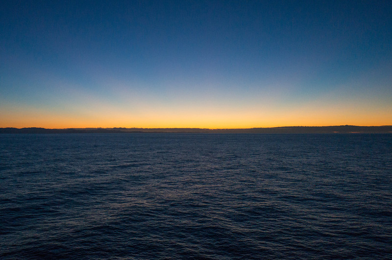 Sunrise over Savona, Italy from the ship