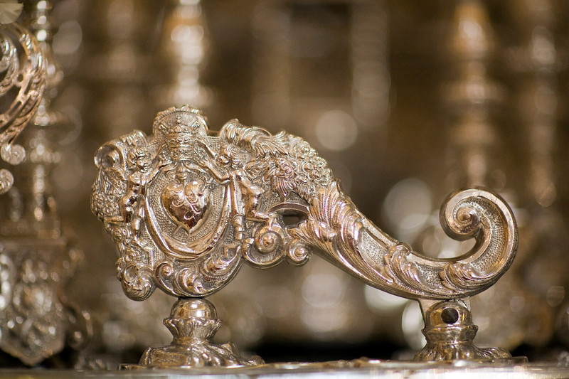 "The ""llamador"" or knocker from the Virgin float, Gran Poder Brothehood, Seville, Spain"