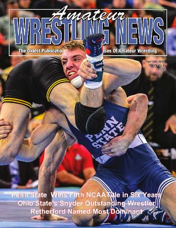 Amateur Wrestling News Cover, April, 2016