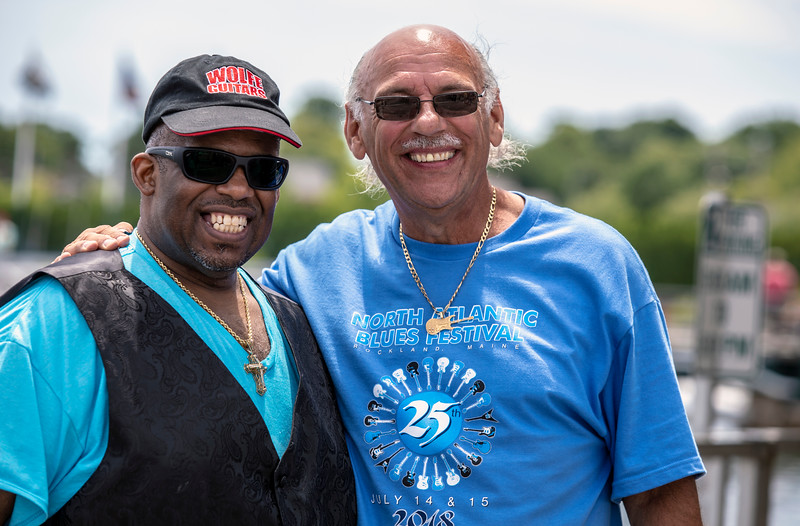 July 14, 2018 |  Slam Allen (l) with the NABF's Paul Benjamin