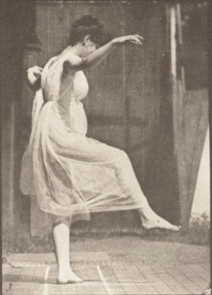Semi-nude woman dancing (fancy)