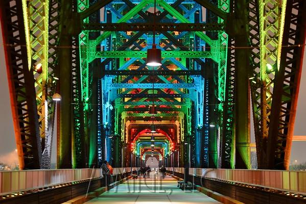 Big Four Bridge with LED Lights