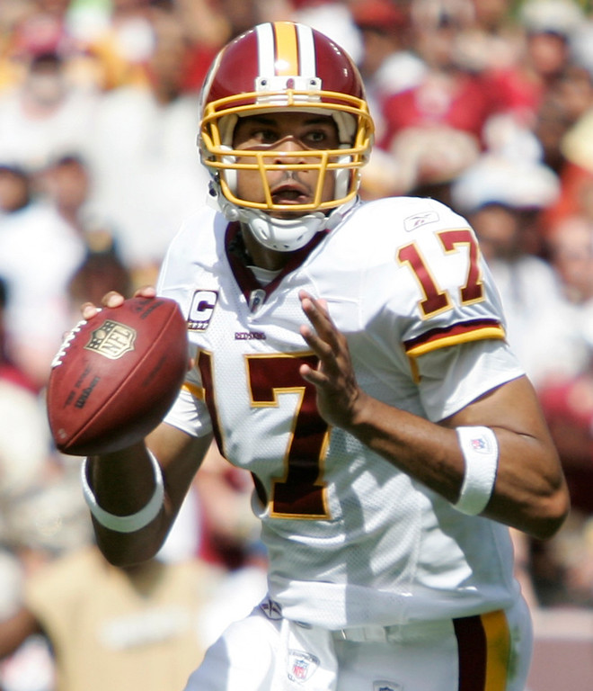 . Jason Campbell, Auburn Selected 25th overall by the Redskins in 2005 Campbell earned the Redskins� starting quarterback job midway through his rookie year, and progressed each of the next two seasons. In his third year, Washington finished 8-8, and Campbell threw 13 touchdowns and just six interceptions in 16 starts. The next season, though, Washington finished just 4-12, and Campbell was traded to the Raiders the subsequent offseason. Since 2010, Campbell has started 19 games for the Raiders and Bears. GRADE: C-. There�s a reason he hasn�t been able to hold onto a starting gig. (AP Photo/Evan Vucci)