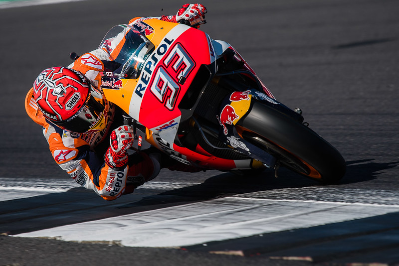 Marc Marquez at Silverstone in 2017, photo by Tony Goldsmith