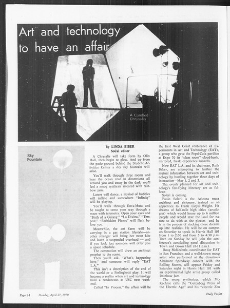 SoCal, Vol. 61, No. 113, April 27, 1970