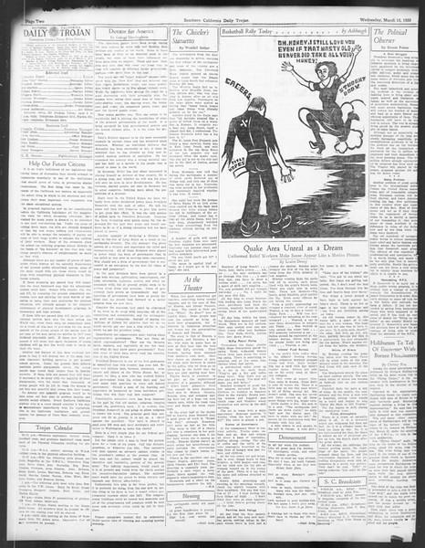 Daily Trojan, Vol. 24, No. 105, March 15, 1933
