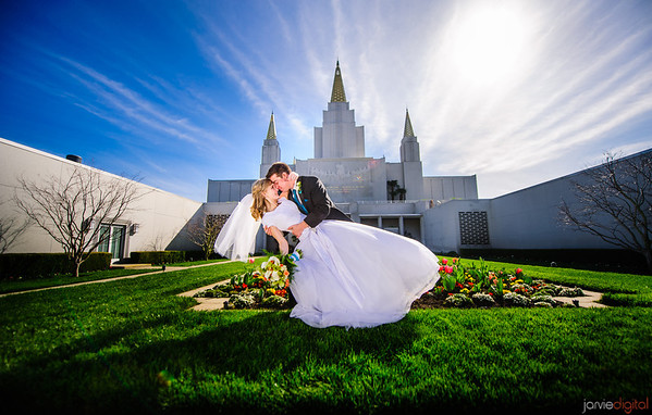 Oakland LDS Temple Wedding Pictures