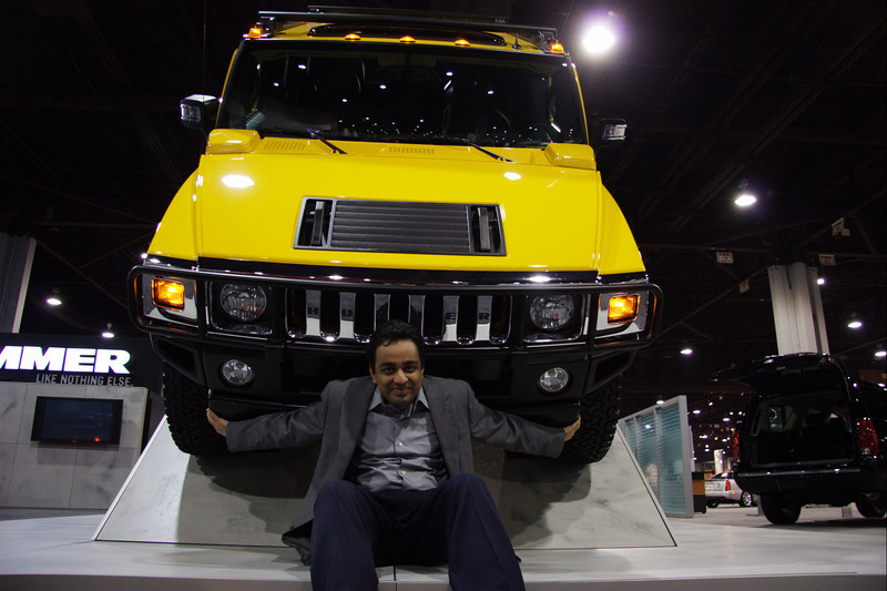 Hummer H2. It's powerful and heavy.