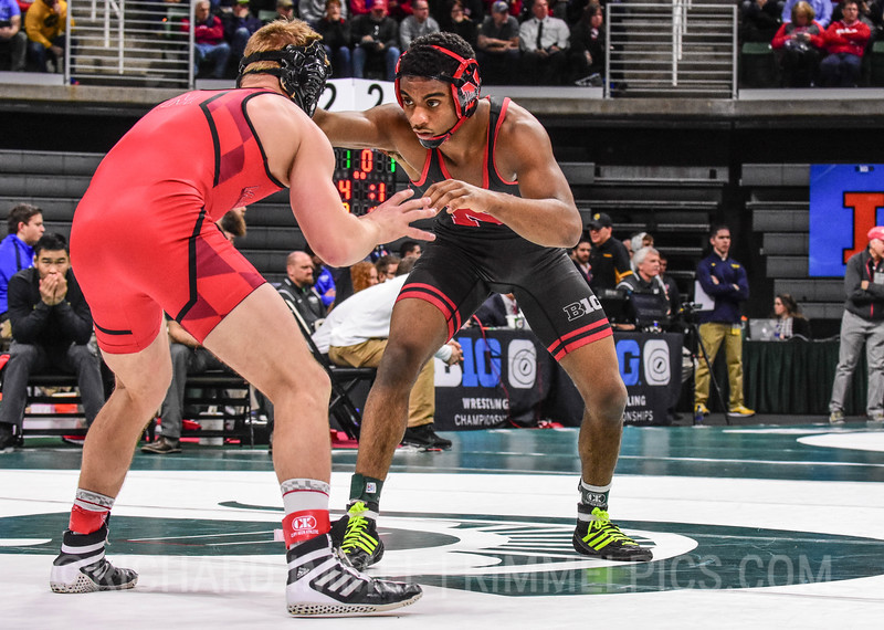 141: Chad Red (Nebraska) dec. Ryan Diehl (Maryland), 6-0