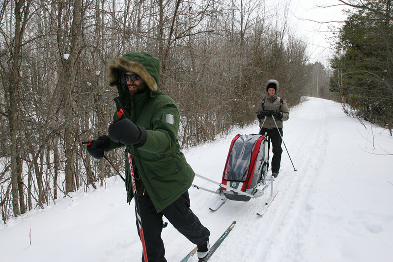 2010-Jan: XC skiing in Orillia