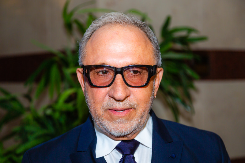 """Emilio Estefan talks to the media before the opening of the musical """"ON YOUR FEET!"""" (The story of Emilio and Gloria Estefan) at the Kravis Center in West Palm Beach on Tuesday, January 8, 2019. [JOSEPH FORZANO/palmbeachdailynews.com]"""