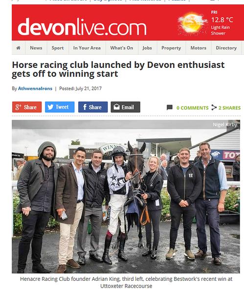 Devon Online - 2017-07-21 17_10_39-Horse racing club launched by Devon enthusiast gets off to winning start _ Devon.png