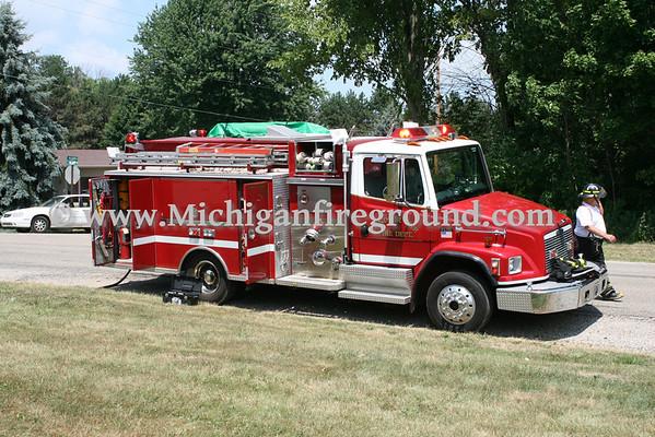 7/21/11 - Windsor Twp dump truck rollover, 11018 Bishop Rd