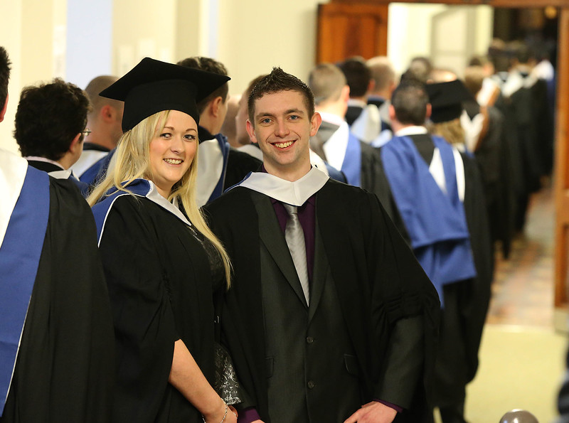 Pictured are Eibhin McCormack, Wexford and Pat McCarthy, Cork who graduated Bachelor of Science in IT . Picture: Patrick Browne