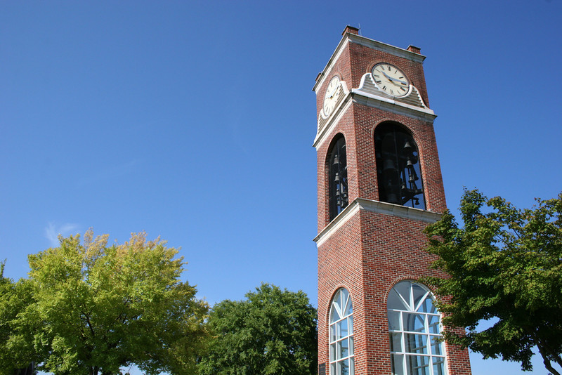 The Hollifield Carillon (bell tower) on a beautiful September morning on the campus of Gardner-Webb University.