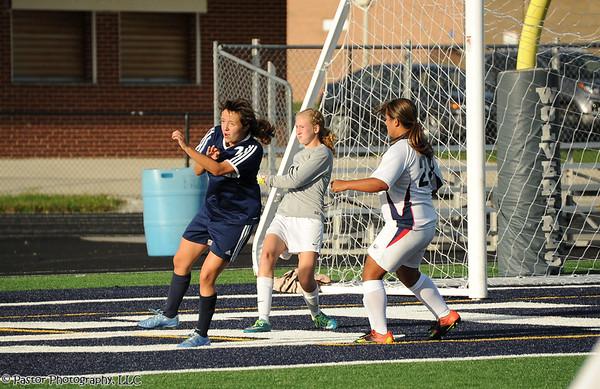JV Girls Soccer Action