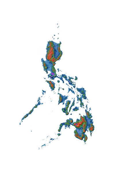 Elevation map of the Philippines