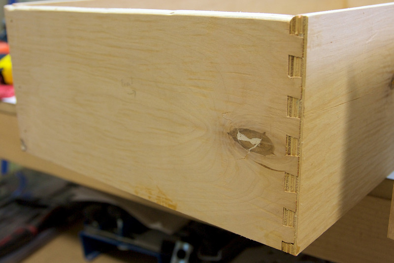 Dovetails on the front.