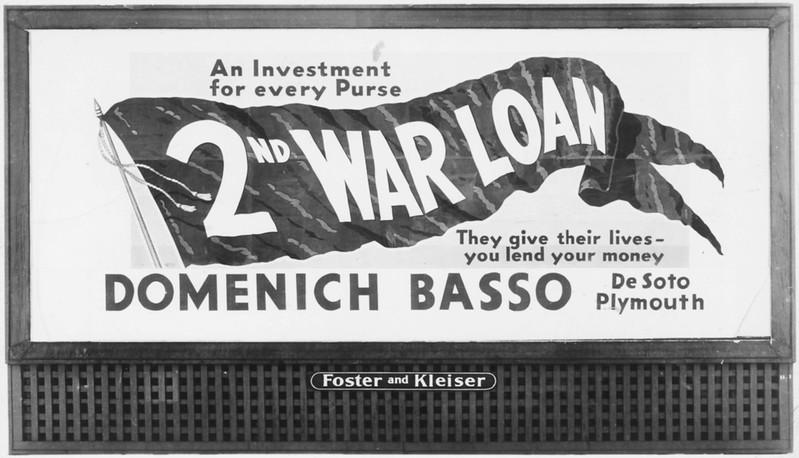 1943, War Loans Advertisement