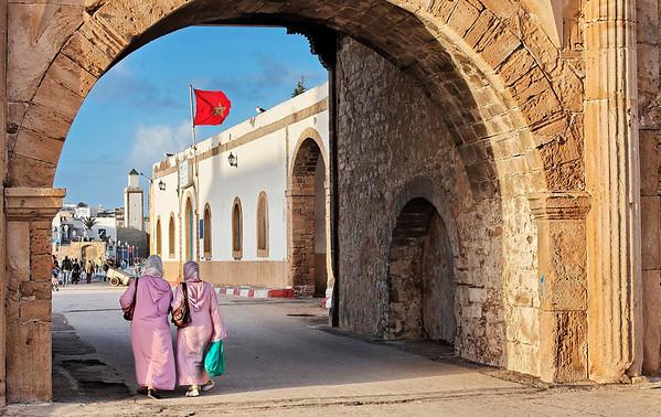 Le port d'Essaouira -coté terre