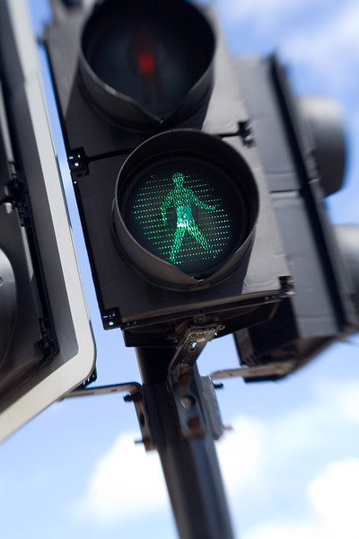 Traffic light in Hamilton