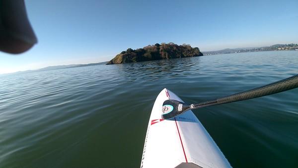 Around SF Bay, Alcatraz, Mile Rock, Marin Island Feb 2021